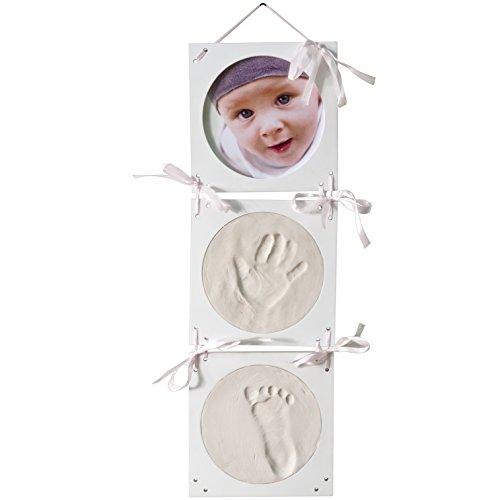 GeschenkIdeen.Haus - Abdruck-Set mit Bilderrahmen für zwei Abdrücke und ein Foto