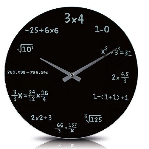 GeschenkIdeen.Haus - Mathematik-Wanduhr mit Formeln statt Zahlen