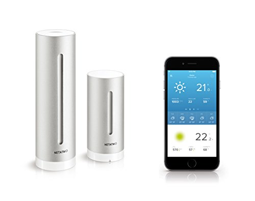 GeschenkIdeen.Haus - Netatmo Wetterstation für iPhone, Android und Windows Phone, Kompatibel mit Amazon Alexa
