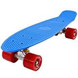 FunTomia Penny-Board/Skateboard mit oder ohne LED Leuchtrollen