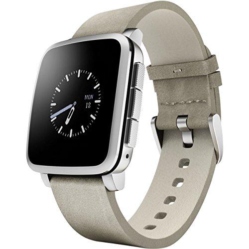 GeschenkIdeen.Haus - Pebble Time Steel-Smartwatch in silber