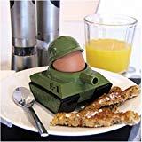 Panzer Eierbecher mit Toastschneider - Soldat Krieg mit Toastschneider