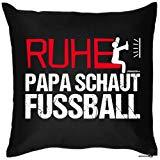 Spaß/Foto-Kissen: Ruhe Papa schaut Fussball