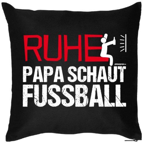 GeschenkIdeen.Haus - Spaß/Foto-Kissen: Ruhe Papa schaut Fussball