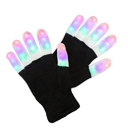 GeschenkIdeen.Haus - Blinkende LED Handschuhe mit 3 Lichtfarben und 6 Modi