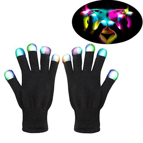 GeschenkIdeen.Haus - Bunte LED-Blinklicht Handschuhe
