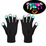 Bunte LED-Blinklicht Handschuhe