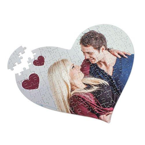 GeschenkIdeen.Haus - Puzzle mit Fotodruck in Herzform (Herzpuzzle)