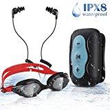Wasserdichter MP3-Player + Kopfhörer - Beim Schwimmen Musik hören