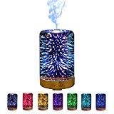 Nachtlampe mit 7 Farben inkl. Aroma-Luftbefeuchter (Diffuser)